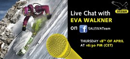 Eva Walkner im Salewa-Live Chat