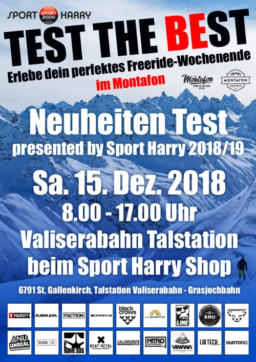 Neuheiten Test presented by Sport Harry